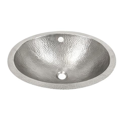Barclay 6861 Pe Florian 19 Inch Single Basin Undermount Bathroom Sink Hammered Pewter