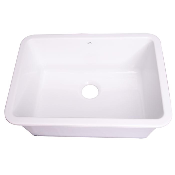 Barclay Ks30 Wh Pierina 29 1 2 Inch Single Bowl Drop In Or Undermount Kitchen Sink White Ks30 Wh Ks30wh
