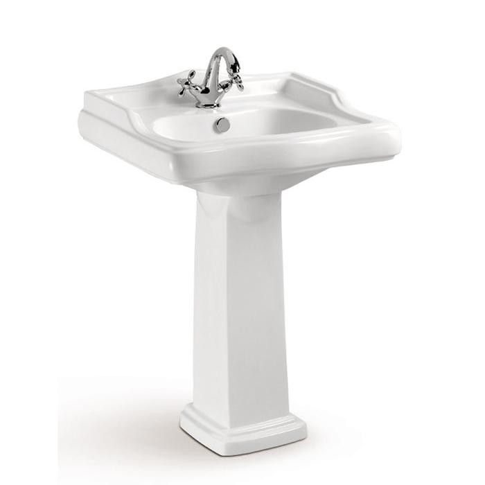 Barclay 3 208wh Riviera 24 1 8 Inch Single Basin Pedestal Bathroom Sink White 3 2081wh 3 2084wh 3 2086wh 32081wh