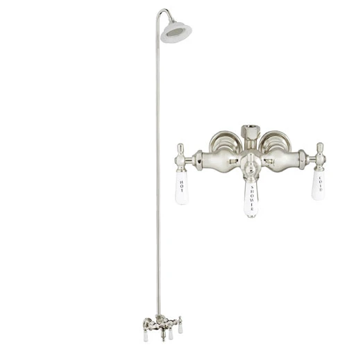 BARCLAY 4011-PL WALL MOUNT LEVER HANDLES ACRYLIC TUB FILLER WITH SUNFLOWER SHOWERHEAD AND DIVERTER