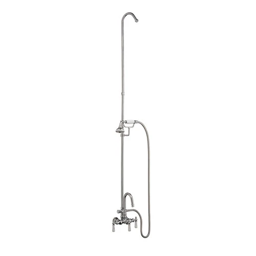 BARCLAY 4024-PL WALL MOUNT LEVER HANDLES ACRYLIC TUB FILLER WITH HANDHELD SHOWER AND DIVERTER