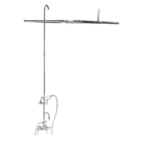 BARCLAY 4144-48 WALL MOUNT LEVER HANDLES ACRYLIC TUB FILLER WITH HANDHELD SHOWER AND RECTANGULAR SHOWER UNIT