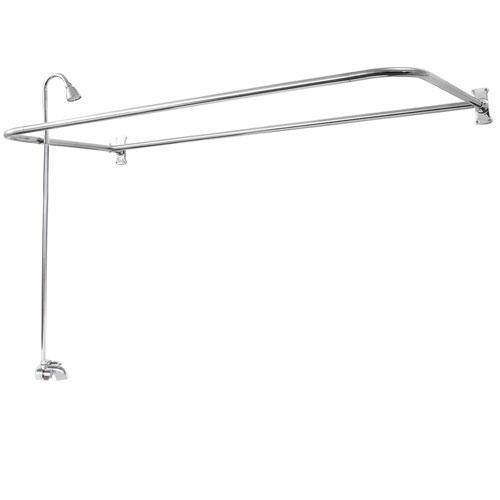 BARCLAY 4193-60 60 INCH WALL MOUNT BLADE HANDLES TUB FILLER WITH SHOWERHEAD AND RECTANGULAR D SHOWER UNIT