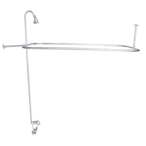 BARCLAY 4198-48 48 INCH WALL MOUNT BLADE HANDLES TUB FILLER WITH SHOWERHEAD AND CODE RECTANGULAR SHOWER UNIT