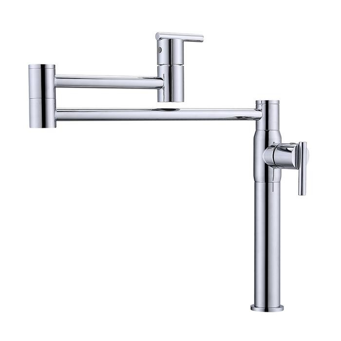 BARCLAY KFP600 CADBY 14 1/2 INCH SINGLE HOLE DECK MOUNT POT FILLER WITH LEVER HANDLES