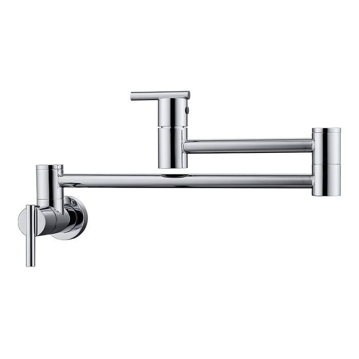 BARCLAY KFP604 DORI 6 3/4 INCH SINGLE HOLE WALL MOUNT POT FILLER WITH LEVER HANDLES