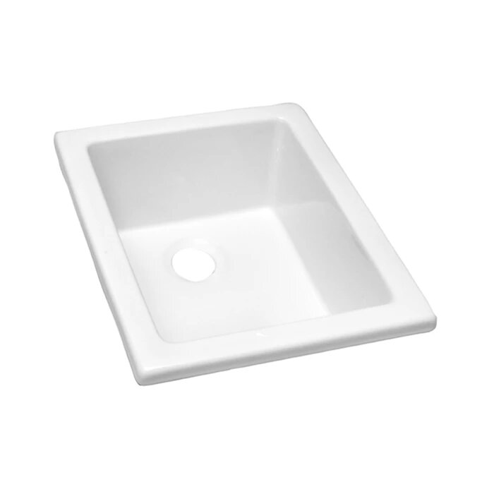 BARCLAY LS460 18 1/8 INCH SINGLE BOWL UNDERMOUNT OR DROP-IN UTILITY SINK - WHITE