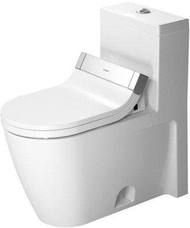 DURAVIT 213351 STARCK 2 14-3/4 X 28-1/8 INCH ONE-PIECE TOILET, ELONGATED, FOR SENSOWASH C, LESS SEAT