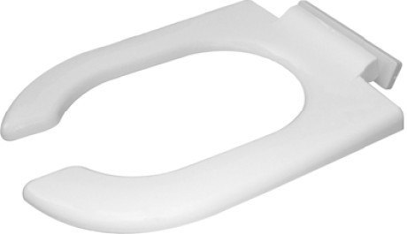 Duravit 0064390000 Starck 3 Open Front Toilet Seat Ring Elongated, with SoftClose