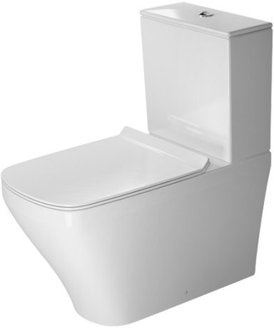 DURAVIT 215609 DURASTYLE 14-5/8 X 27-1/2 INCH TOILET CLOSE-COUPLED WASHDOWN MODEL, BOWL ONLY