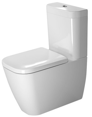 DURAVIT 213409 HAPPY D.2 14-3/8 X 24-3/4 INCH TOILET CLOSE-COUPLED, WASHDOWN MODEL, BOWL ONLY