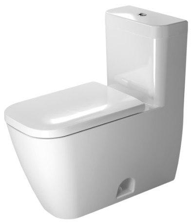 Duravit 212101 Happy D.2 15-3/8 x 28 Inch One-Piece Toilet White