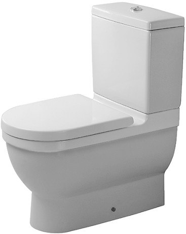 Duravit 012809 Starck 3 14-1/8 x 25-3/4 Inch Toilet Close-Coupled, Washdown Model Bowl Only