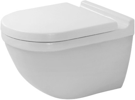 Duravit 222509 Starck 3 14-1/8 x 21-1/4 Inch Toilet Wall-Mounted, Washdown Model, Bowl Only
