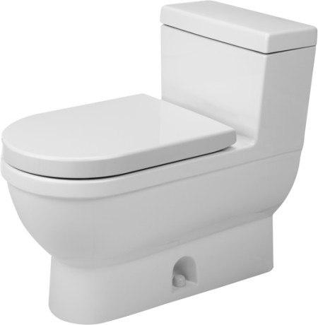 Duravit 2120010001 Starck 3 14-5/8 x 28-1/8 Inch One-Piece Toilet with SensoWash, Elongated