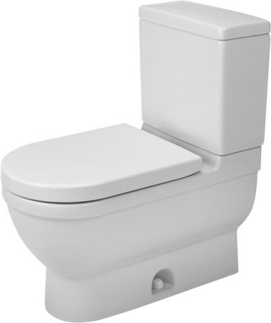 Duravit 2125010000 Starck 3 14-5/8 x 27-3/4 Inch Two-Piece Toilet, Elongated, Bowl Only