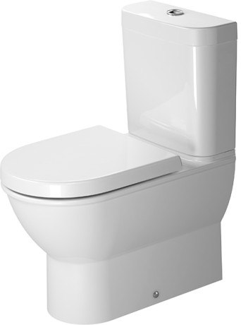 DURAVIT 213809 DARLING NEW 14-5/8 X 24-3/4 INCH TOILET CLOSE-COUPLED, WASHDOWN MODEL BOWL ONLY
