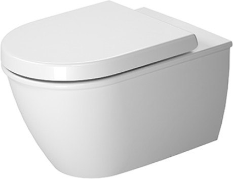 Duravit 252909 ME by Stark 14-3/8 x 22-1/2 Inch Rimless Toilet Wall-Mounted, Washdown Model, Bowl Only