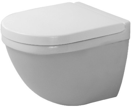 Duravit 222709 Starck 3 14-1/8 x 19-1/8 Inch Toilet Wall-Mounted Compact, Washdown Model, Bowl Only