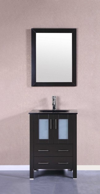 Bosconi AB124BGU 24 Inch Single Vanity Set in Espresso