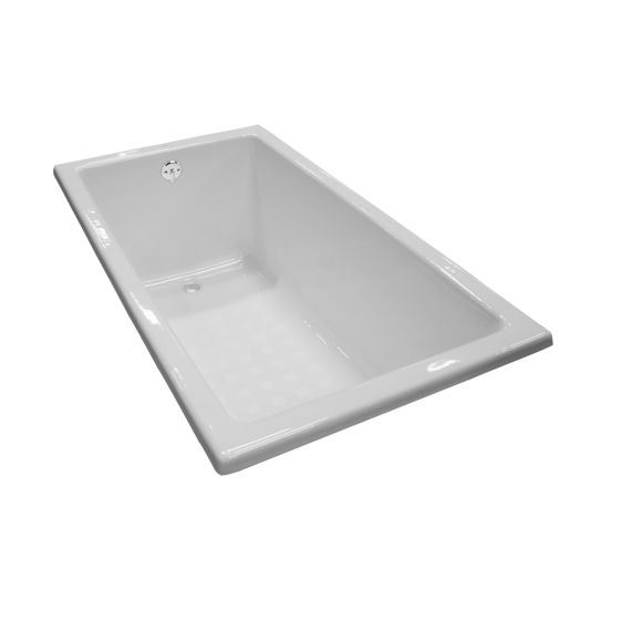 Toto FBY1550P 59-1/16 x 31-1/2 x 23-1/4 Inch Enameled Cast Iron Bathtub with Reversible Drain