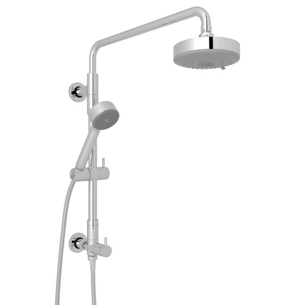 ROHL L0095KIT2 SPA SHOWER RETRO-FIT SHOWERHEAD SET WITH HANDSHOWER, HOSE AND SHOWER COLUMN RISER WITH DIVERTER