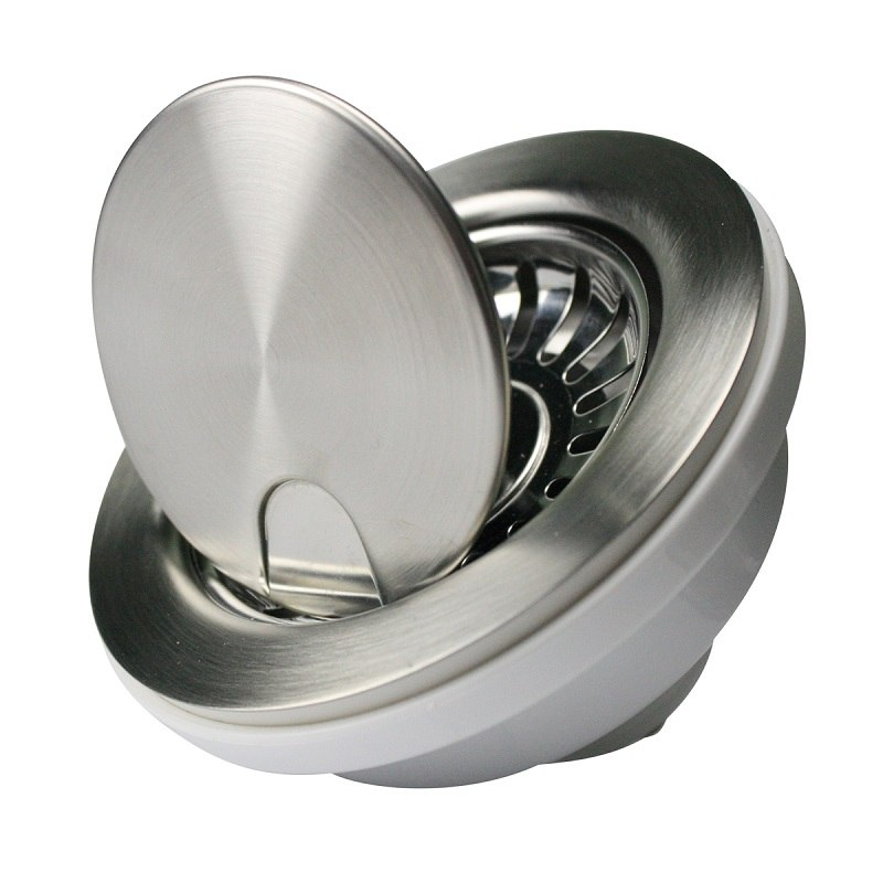 NANTUCKET SINKS NS35LCC FLIP DRAIN WITH STRAINER AND 'CRUMB CUP' LID