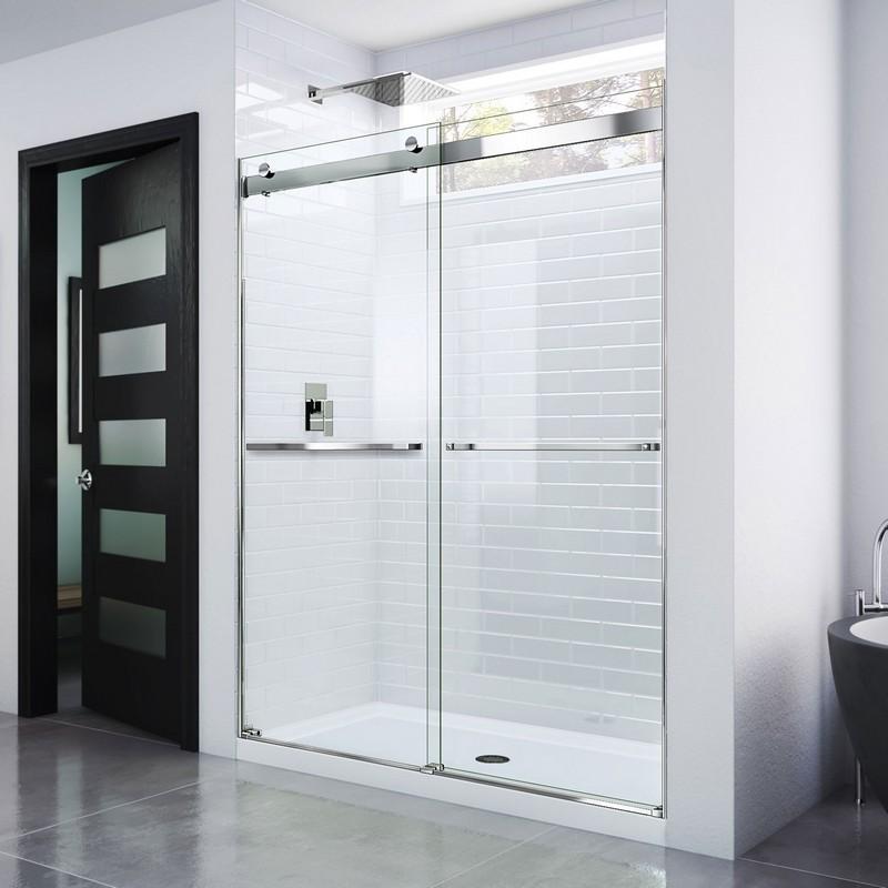 DREAMLINE SHDR-6360760 ESSENCE 56-60 W X 76 H FRAMELESS BYPASS SHOWER DOOR