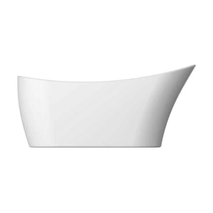 BARCLAY ATSN65IG LYDIA 65 5/8 INCH ACRYLIC FREESTANDING OVAL SOAKER SLIPPER BATHTUB WITH INTEGRATED DRAIN AND OVERFLOW - WHITE