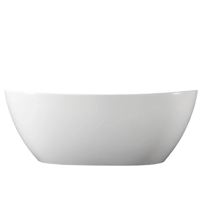 BARCLAY RTOVN64-OF-WHGL HOWE 65 1/8 INCH RESIN FREESTANDING OVAL SOAKER BATHTUB - WHITE GLOSS