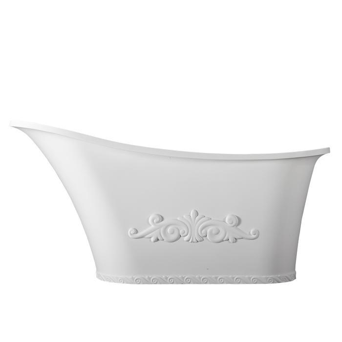 BARCLAY RTSN59 AYANNA 59 3/8 INCH RESIN FREESTANDING OVAL SOAKER SLIPPER BATHTUB