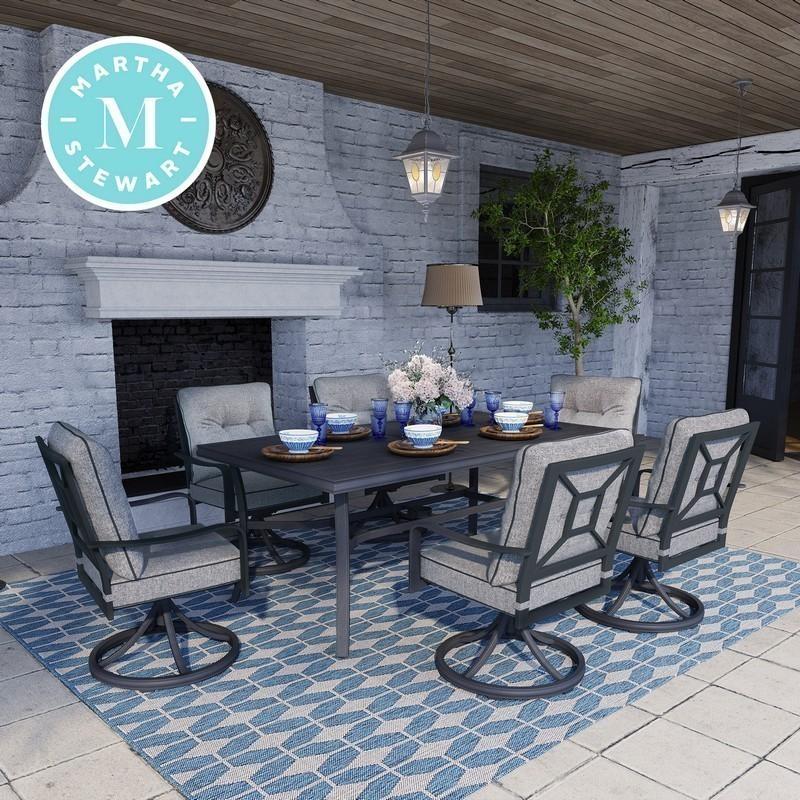 Martha Stewart 7 Piece Outdoor Dining, Solana Bay 7-Piece Patio Dining Set