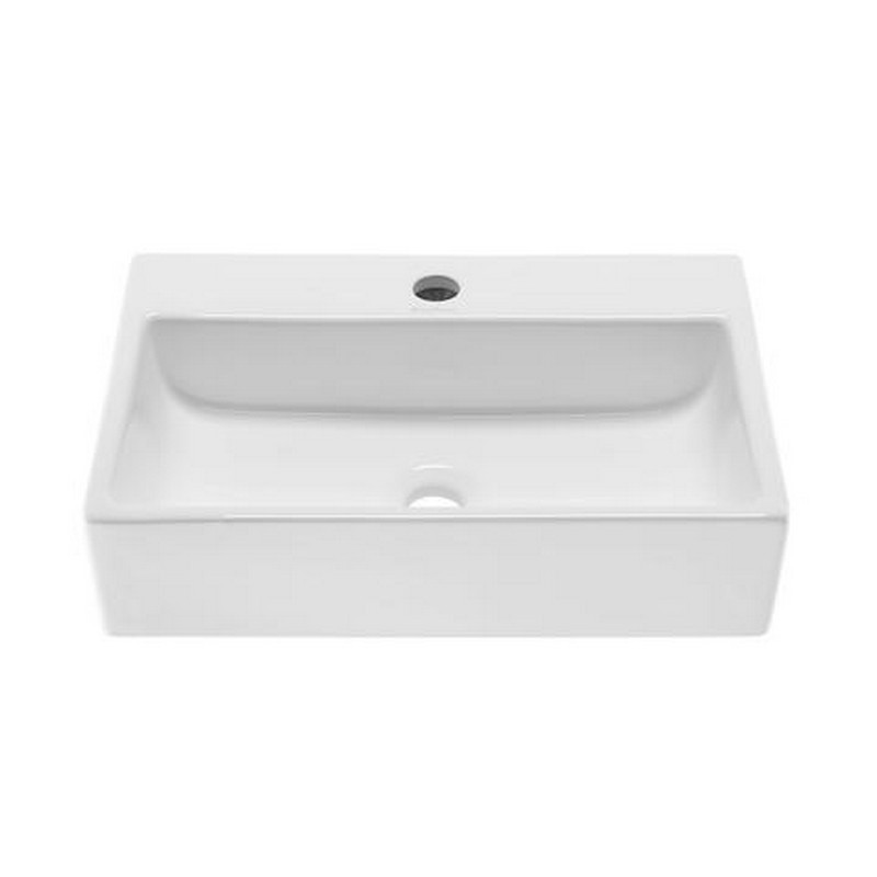 SWISS MADISON SM-VS203 CLAIRE 20 INCH RECTANGLE CERAMIC VESSEL SINK