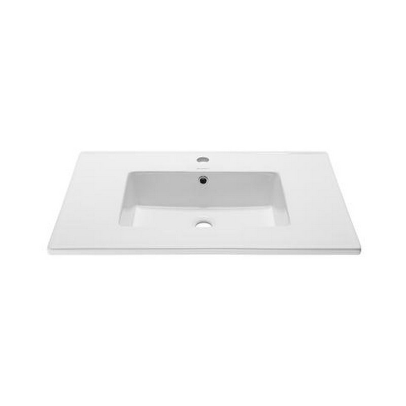 SWISS MADISON SM-VT328 VOLTAIRE 31 INCH VANITY TOP SINK WITH SINGLE FAUCET HOLE