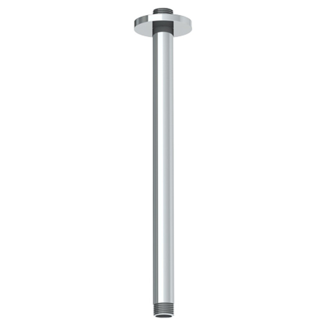 4 Inch Straight Square Shower Arm with Flange Ceiling Mount Oil Rubbed Bronze