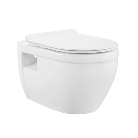Swiss Madison Sm Wt450 Ivy Wall Hung Elongated Toilet Bowl With 0 8 1 28 Gpf Dual Flush