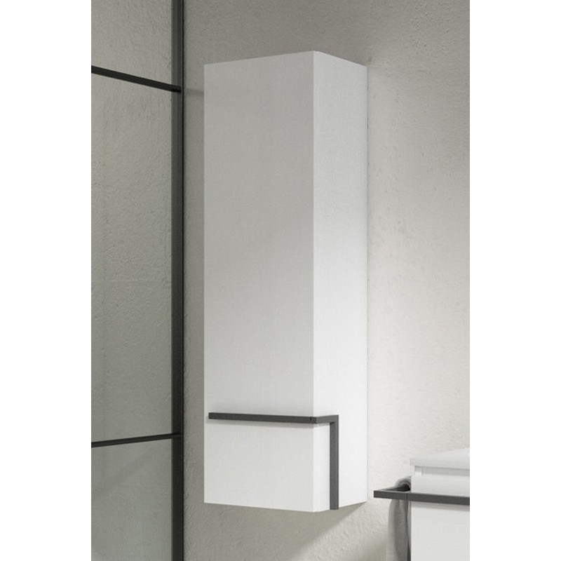 LUCENA BATH 3906 SCALA 13 INCH TALL UNIT WITH LEFT SIDE DOOR IN WHITE