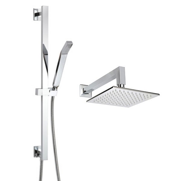 THERMASOL CSPSQ WALL MOUNT SQUARE SHOWER HEAD AND HAND SHOWER