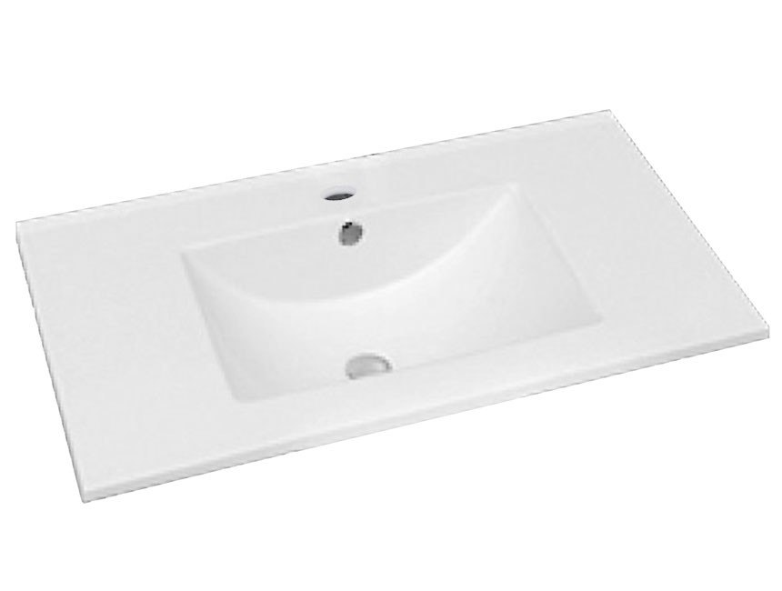 Dowell USA 000 2418B Topmount 24 Inch Ceramic Bathroom Sink