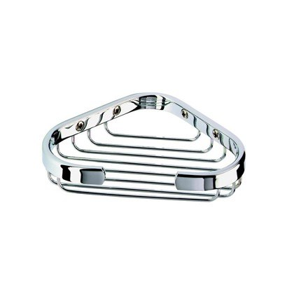Geesa 137 Basket Collection Corner Shower Wire Soap Holder