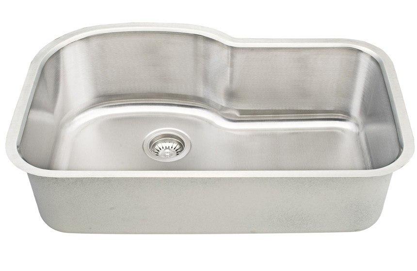 Dowell USA 6001 3121T Undermount Series 31 Inch Undermount Kitchen Sink - 16 Gauge