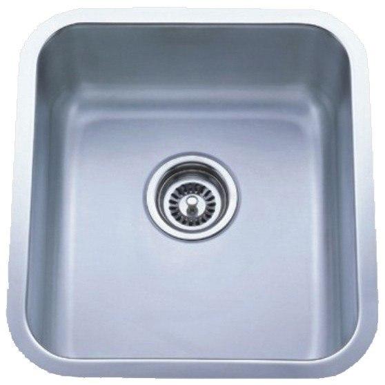 Dowell USA 6001 1618T Undermount Series 16 Inch Undermount Kitchen Sink - 16 Gauge