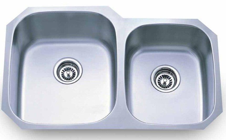 Dowell 6001 3220R Undermount Series 32 Inch Undermount Kitchen Sink - 18 Gauge
