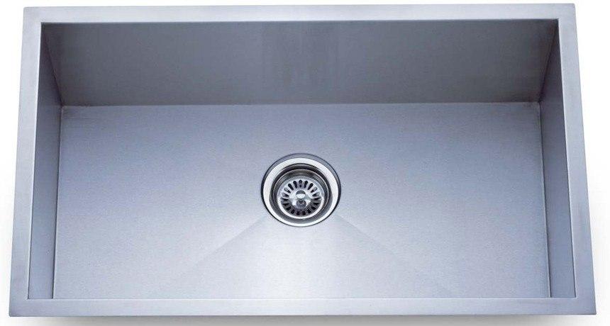 Dowell USA 6002 2318T Handcrafted 23 Inch Undermount Kitchen Sink - 16 Gauge