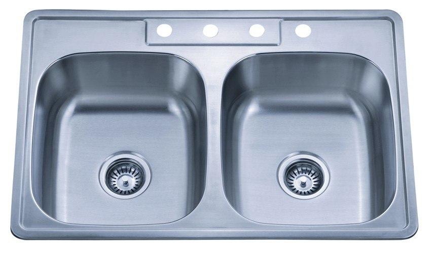 Dowell USA 6004 3322 TopMount 33 Inch Kitchen Sink