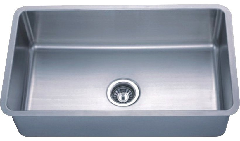 Dowell USA 6005 3018  Handcrafted Small-Radius Corner (R25 Series) 30 Inch Undermount Kitchen Sink