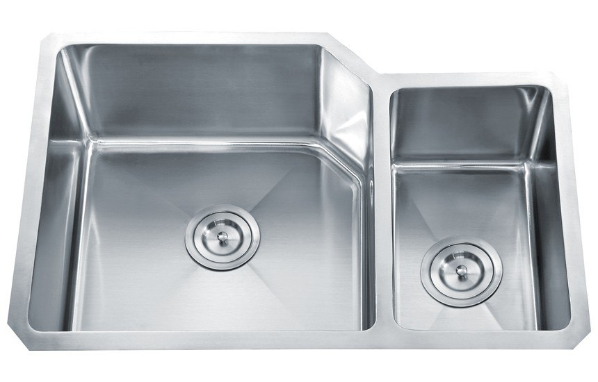 Dowell USA 6008 3020D Handcrafted Small-Radius Corner Series 30 Inch Undermount Kitchen Sink