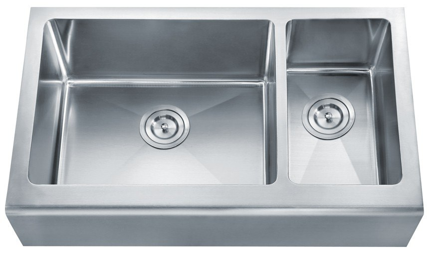 Dowell USA 6008 3320D Handcrafted Small-Radius Corner Series 32 Inch Undermount Kitchen Sink