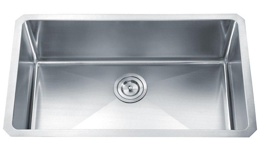 Dowell USA 6008 3018 Handcrafted Small-Radius Corner Series 30 Inch Undermount Kitchen Sink