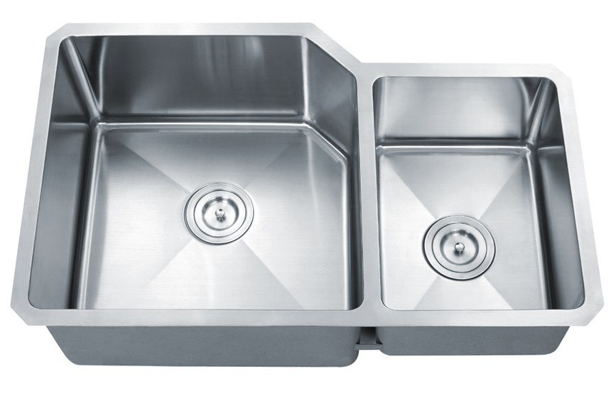 Dowell USA 6008 3220D Handcrafted Small-Radius Corner Series 32 Inch Undermount Kitchen Sink